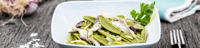 Feuille d'olivier au poisson bleu
