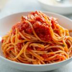 Recette spaghetti Capuliato et anchois