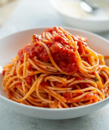 Spaghetti Capuliato et anchois